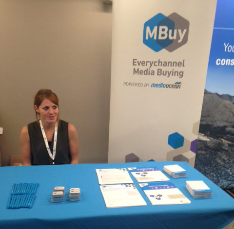 Mbuy employee attends sponsorship booth at Hospital Summit